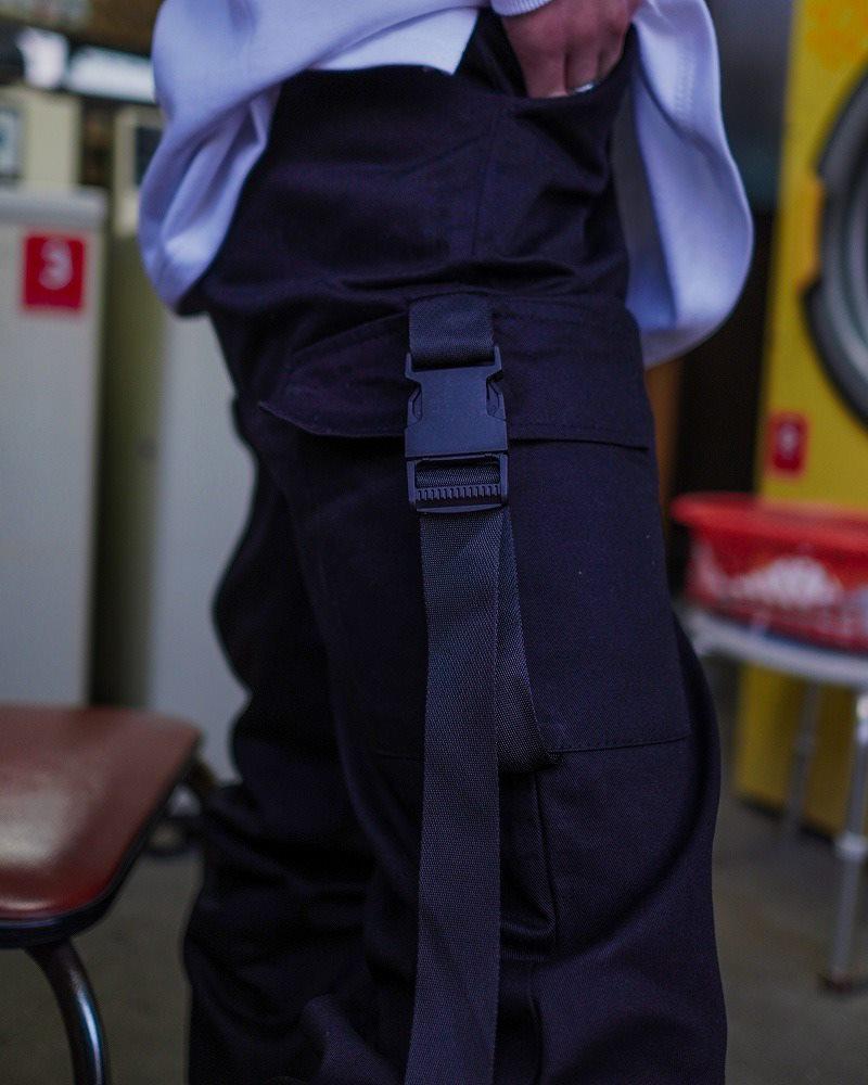 サイドベルトブラックカーゴジョガーパンツ(小さいサイズ)の画像8